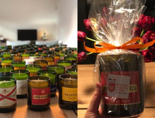 Naomi & Elliott verkopen mooie, zelfgemaakte kaarsen ten voordele van de Foundation!