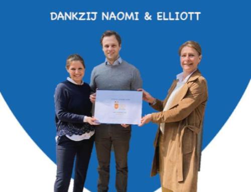Naomi en Elliott doneren 5.150 € aan de stichting